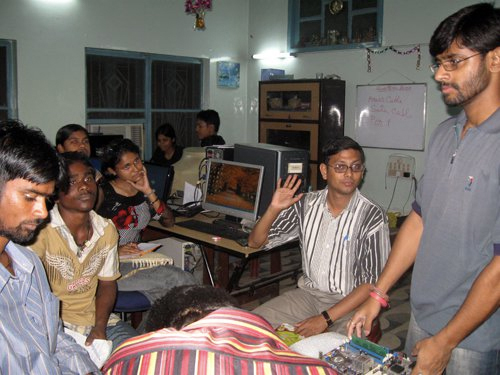 Uddami deaf teacher teaching deaf students