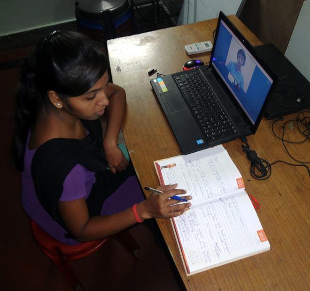 Uddami - English class via Skype